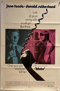 Klute US One Sheet Poster (1971) Folded Original Film Poster