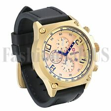 Luxury Men's Army Infantry Watchs Leather Band Analog Quartz Sport Wrist Watch