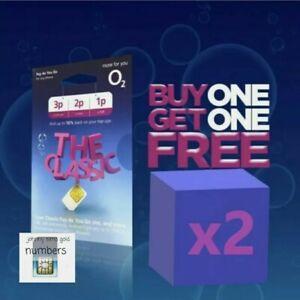 O2 Sim Card - New and Sealed Classic O2 Pay As You Go 02 O2 PAYG !!