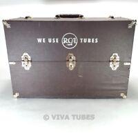 Large Brown Unknown Brand, Vintage Radio TV Vacuum Tube Valve Caddy Case