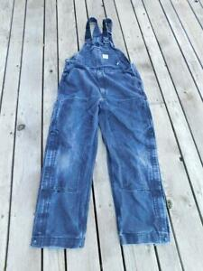 Carhartt FR 36 x 32 Black Duck Bib Overalls Double Front Legs Unlined USED