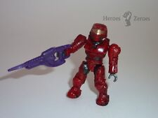 Halo Mega Bloks Series 2 UNSC Red Spartan II with Carbine Rifle (Common)