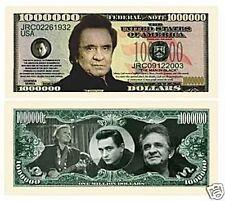 Johnny Cash One Million Dollar Bill,Fun Money,die Neuheit aus USA. 1 Schein.