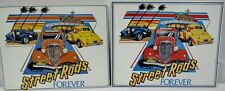 2 Vintage 80's Street Rods Forever Metal Signs Made In Usa