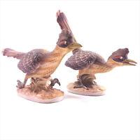 Lefton Road-Runner Bird Figurine KW3209 Pair Hand Painted Bisque Porcelain Japan