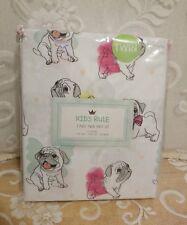 Kids Rule Twin Sheet Set Pug Puppies in Tutus; Butterfly Wings 3 Piece Nip !