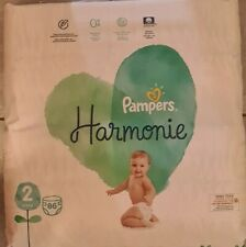 Couches Pampers Harmonie Taille 2. 86 Couches. 4-8 kg