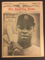 1964 Sporting News NEW YORK Yankees ELSTON HOWARD No Label THE COMPLETE CATCHER