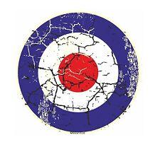 Retro Distressed Aged MOD Style RAF Roundel Target Motif vinyl car sticker Decal