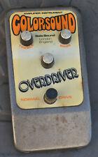 RARE 70s Coloursound Overdriver  fuzz Distortion  Guitar  Pedal