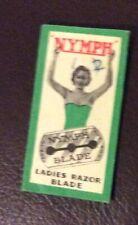 Vintage Razor Blade & Packet, SOUPLEX NYMPH Ladies, British Made Morecambe (1)
