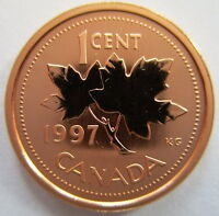1997 CANADA 1 CENT SPECIMEN PENNY COIN