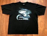 Star Trek Next Generation Vintage Starship Enterprise T-Shirt 1996 90s 2XL XXL