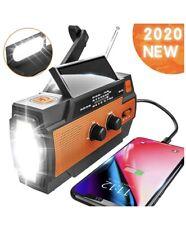 Emergency Radio Hand Crank Solar, 4000mAh Portable Weather Radio