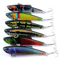 Eg _ 7cm/6.6g Vib Realistici Pesca Attrezzatura Plastica Colorati Esche