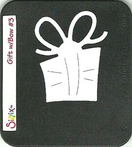Sizzix SIZZLITS Die GIFT & BOW #3 from 2006 Limited Edition Seasons Set ~ UNUSED