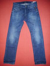 Replay LASER NEWBILL Stretch Tapered  W27 L32 Mens Blue Denim Jeans   N119