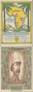 Berlin Notgeld: 88.3 Bild 5 Notgeld des Dt.-Hanseatischen Kolonialgedenktages ba