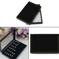 100 Jewelry Ring Display Organizer Case Tray Holder Earring Velvet Storage Box d
