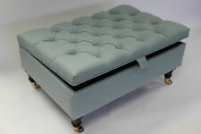 Chesterfield Thickly Upholstered Coffee Table Storage Ottoman Footstool Seat