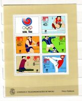 DE Macau Macao 1988 Block 9 Olympische Spiele Seoul MNH