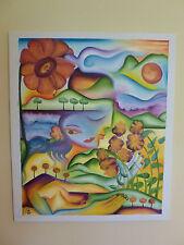 "Veralyn Villanueva Original Acrylic Painting on Canvas ""Mother Nature"""