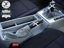 GRIS CUIR SOUFFLET LEVIER DE VITESSE ET FREIN POUR BMW E36 3 SERIES 91-98