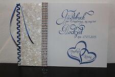 Gästebuch zur Hochzeit , royal blau