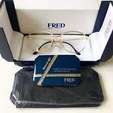 vintage FRED CYTHERE eyeglasses sunglasses France rare gold plated MEDIUM 57