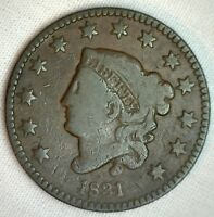 1831 Coronet Large Cent US Copper Type Coin Very Good Genuine Penny N5 1c VG