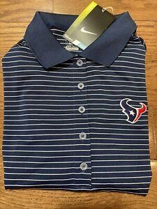 Womens Size Medium Nike Polo Shirt Houston Texans Blue NFL