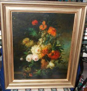 19th/C Still Life Flowers & Birds Nest by James Seymour