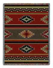 SOUTHWEST INDIAN KAIOBAB DESIGN EARTH TONES TAPESTRY THROW AFGHAN BLANKET 54x70