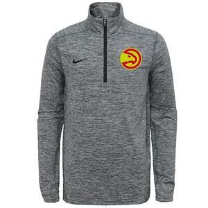 Nike NBA Youth Atlanta Hawks Space Dye Heathered Grey 114 Zip Element Pullover