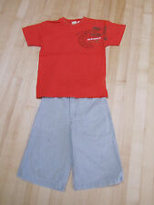 2pc outfit: Miniman s/s shirt and Catimini boardshorts, size 6