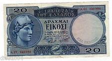 Grece GREECE Billet 20 DRACHMAI 1954  P187 RARE BON ETAT