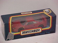 MATCHBOX KING SIZE FERRARI F40 in RED it is new old stock factory MINT BOXED