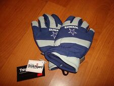 DALLAS COWBOYS LG/XL  THINSULATE INSULATED GLOVES VINTAGE G-G SKI WATERPROOF
