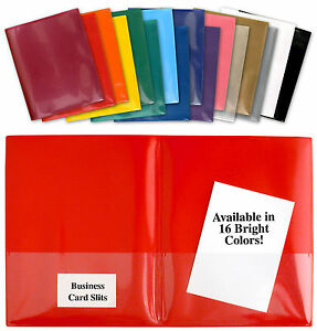 StoreSMART Plastic 2-Pocket Folders- Clear Overlay-5-Pack- R900_-5