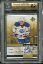 2011-12 Ultimate Collection Rookie Auto RYAN NUGENT HOPKINS  sp # 85/99 BGS 9.5