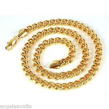 18K Yellow Gold Filled Men's Curb Chain Necklace (N-159)