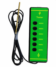 ELECTRIC FENCE TESTER - 6,000v Measures Voltage Fencing Current LED