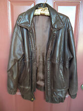 VTG 1980's Brown Leather Bomber Jacket MEDIUM ?;Gus Mayer New Orleans CLEARANCE