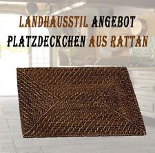 1xTischset Platzset Platzdeckchen Telleruntersetzer aus Rattan Landhausstil Deko