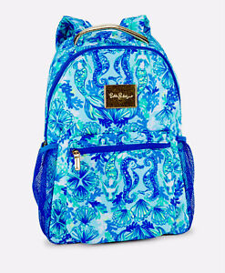 Lilly Pulitzer Bahia Backpack Seaglass AQ Seeing Double