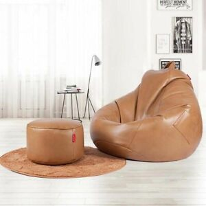 Leather Bean Bag Living Room Lazy Comfortable Leisure Sofa Multifunction Chairs