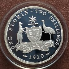 Australian 1998 20 cent proof of a 1910 Florin ex-Masterpiece in silver set