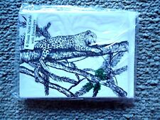 Leopard on Limb of Tree 18 Blank Notecards with Linen Style Envelopes New