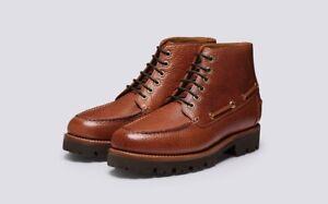 "BNIB Men's GRENSON "" EASTON "" Brown Leather Derby Boots UK 9 E RRP £305"