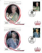 1995 Dominica Set of 4 95th Birthday of HM the Queen Mother FDCs with SPMKs.